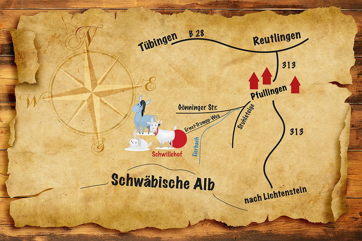 Der Weg zum Schwillehof in Pfullingen