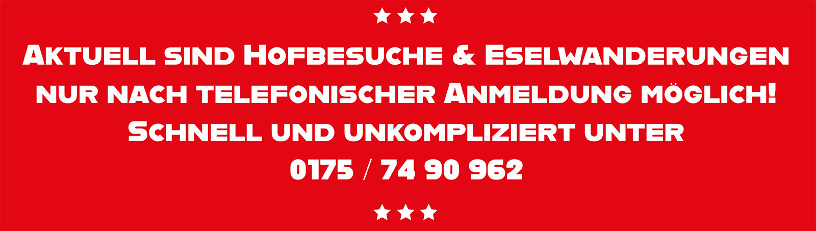 Aktuell sind Hofbesuche und Eselwanderungen auf dem Schwillehof nur nach telefonischer Voranmeldung möglich! Schnell und unkompliziert unter Tel. 0175 / 74 90 962